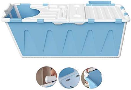 浴槽大人用折りたたみ式浴槽全身浴槽折りたたみ式浴槽全身浴槽軽量で便利な浴槽たっぷり収納 浴室用設備 (Color : Blue, Size : 120*53*53cm)
