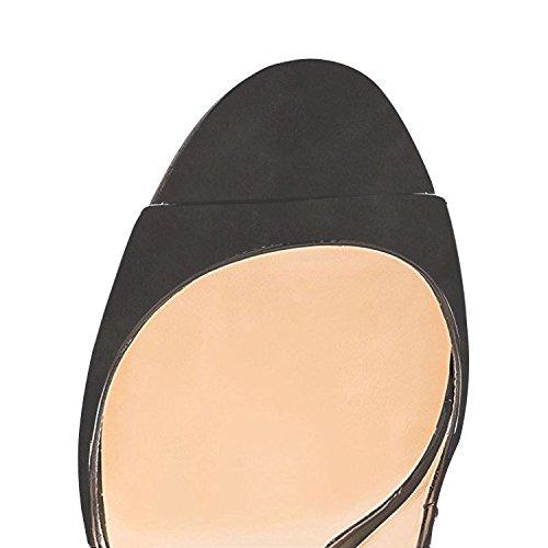 ELASHE Women High Heels Pumps | Slingback Party Wedding Pumps | Peep Toe Stiletto | 12cm Elegante Sandals Gray t1Fae6JZv