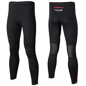 Huub Training Running Lycra Tights Mens Running Triathlon Rear Zip Sizes XS-XXL