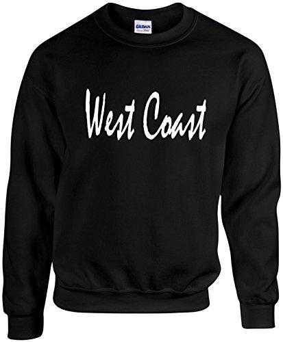 (Adult Unisex Crewneck Size 3X (WEST Coast (California)) Novelty Sweatshirt)