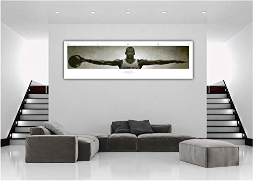Niwo Art (TM - Michael Jordan Wings, Sports Poster, Peel and Stick Removable Wall Decals Stickers (72''x24'') by Niwo Art (Image #2)