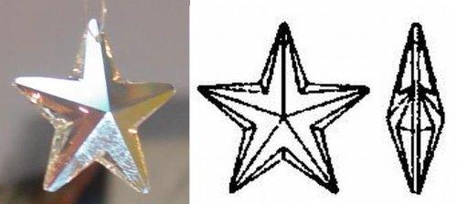 6714 Star (28mm Swarovski Strass AB Crystal Star 6714-28)