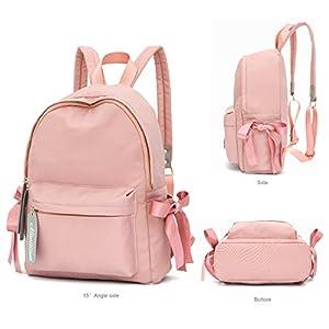 Ali Victory Basic Backpack for Women Fashion Grils College School Shoulder Bag (Pink)