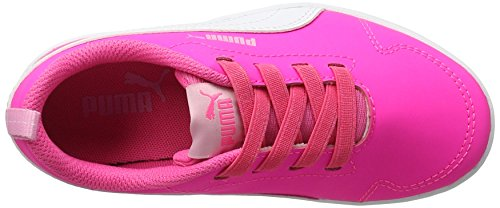 Puma Courtflex Ps, Zapatillas Unisex Niños Rosa (Knockout Pink-puma White 04)