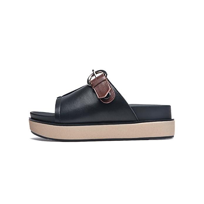 Sohoeos Flip Flop Ladies Esterna Di Estate Nuovo Signore Fashion Sandali Per Donne Strappy Sandali 36eu nero Marrone Scuro