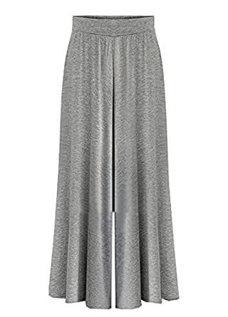 Wicky LS Women's Casual Palazzo Wide Leg Long Pants Cotton
