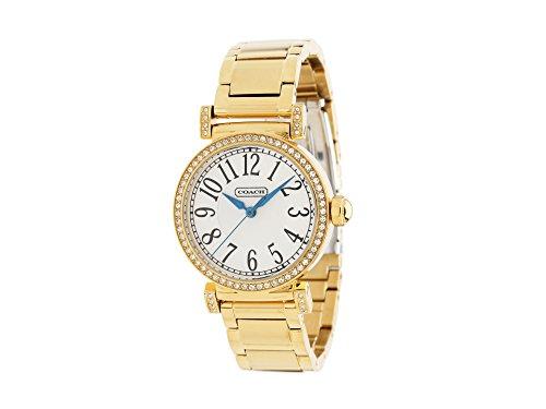 COACH 'Madison' Round Crystal Bezel Bracelet Watch, -