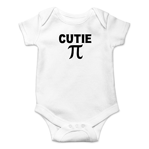Crazy Bros Tees Cutie Pie - Math Parody Funny Cute Novelty Infant One-Piece Baby Bodysuit (6 Months, White)