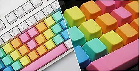 Feicuan 37 Keys Cap Cover Case ABS Colorful Replacement Keycap Universal para Teclado mecánico -Dark Color Blank