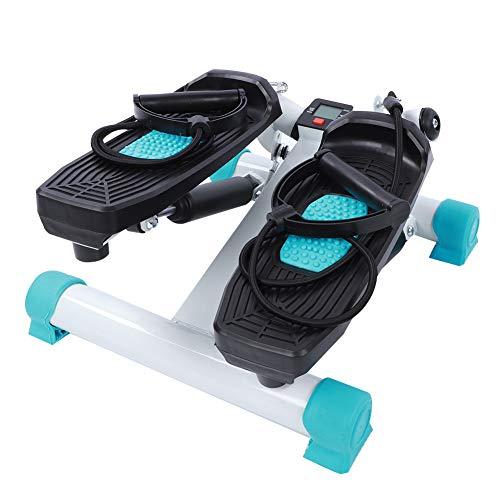 Mini Stepper Fitness, Stepper Fitness con Bande di Allenamento e Display LED, Swing Stepper aerobico per esercizi da…
