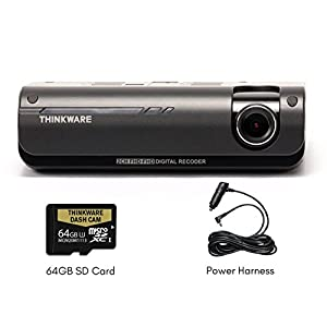 THINKWARE F770 Dash Cam | Front | 1080P HD Dash Cam with Sony Exmor Sensor + Built-in WiFi + Super Night Vision - 64GB SD Card | Cigarette Power Cable Included