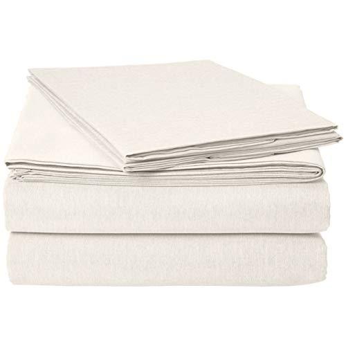 AmazonBasics Chambray Sheet Set Bed Set - California King, Soft Grey