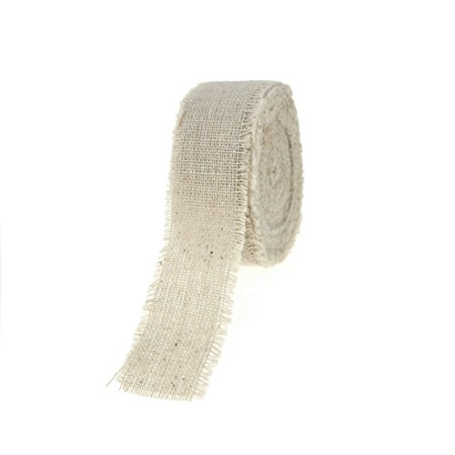 Natural Linen Ribbon Fringe Edge, 5 Yards (1-Inch)