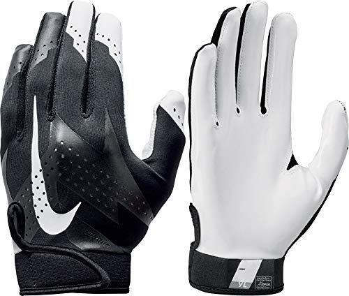 Nike Youth Torque 2.0 Receiver Gloves 2018 (Black/White, Large)