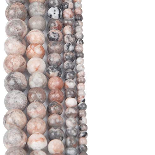 Calvas Pink Zebra Beads Australia Zebra Stone Accessory Beads for Bracelet Jewelry Making - (Color: TRZZ018 Pink Zebra, Item Diameter: 10mm About 36pcs)