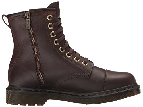 Dr.Martens Mens Mace 8 Eyelet Wyoming Polished Leather Boots Brown