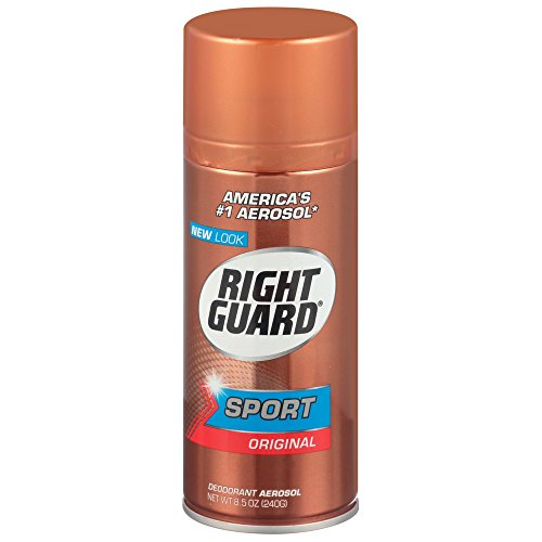 Right Guard Sport Deodorant, Aerosol, Original 8.5 oz (Pack of 6)