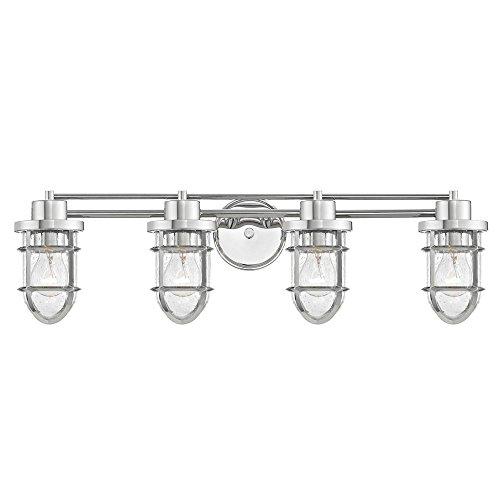 (Seeded Glass Bathroom Light Chrome Cage 4)