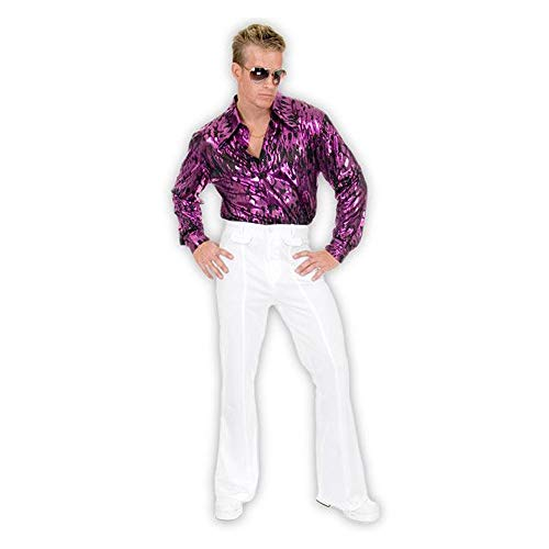 Charades Mens 70s Disco Pants Adult Costume Yellow