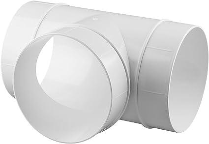 PVC Europlast 125mm tubo conectores ventilaci/ón ABS 125mm ronda tubo de escape del tubo
