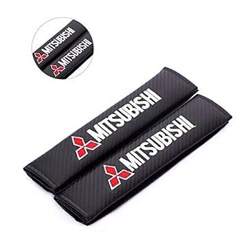 Amazon.com: amooca Mitsubishi bordado cinturón de seguridad ...