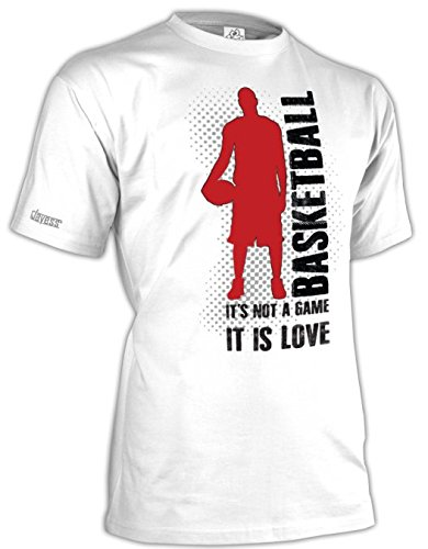 BASKETBALL - IT´S NOT A GAME - IT IS LOVE - HERREN - T-SHIRT in Weiss by Jayess Gr. M