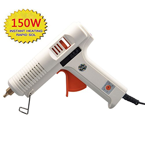 Dutiger 8609080 Glue Gun 150W Hot Melt Glue Gun Adjustable Temperature High Temp and Low Temp Glue Gun (Glue Gun)