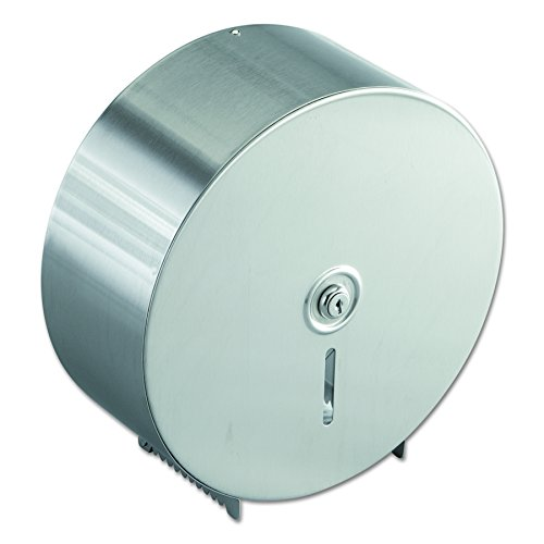Bobrick 2890 Jumbo Toilet Tissue Dispenser, Stainless Steel, 10.625W x 10.625H x - Dispenser Paper Toilet Stainless Steel