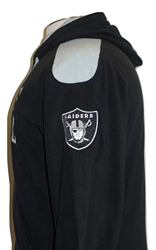 Oakland Polar Raiders Fleece (Oakland Raiders Men's Black Snap Shot Polar Fleece Full-Zip Hoodie)