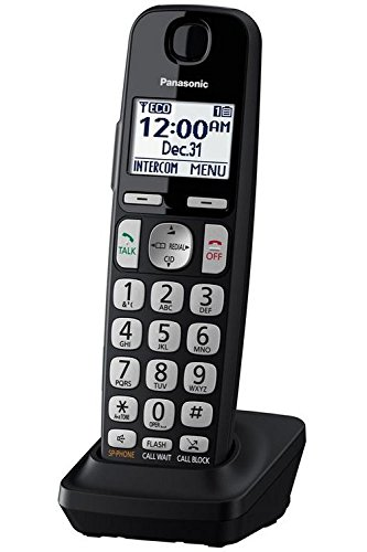PANASONIC Additional Cordless Phone Handset for use with KX-TGE4x Series Cordless Phone Systems – KX-TGEA40B (Black)