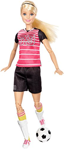 Barbie Made to Move The Ultimate Posable Soccer Player Doll (Barbie Headband)