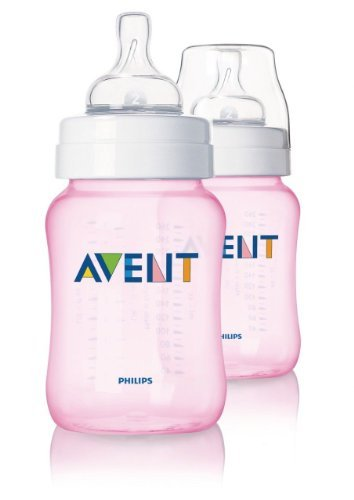 Philips Avent Limited Edition Pink Girls Baby Bottles 2 Pack