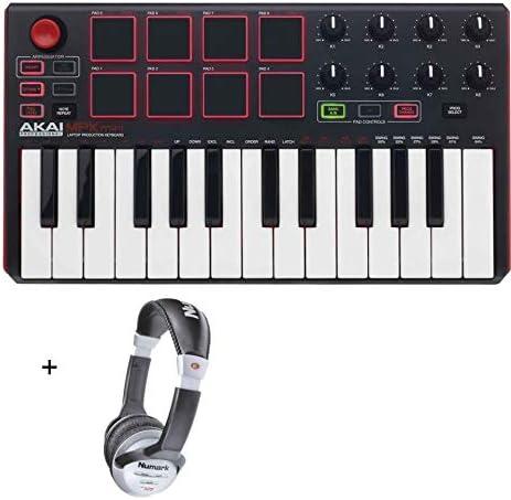 Akai Pro MPK Mini MKII – Mini teclado (USB, 25 notas, incluye casco)