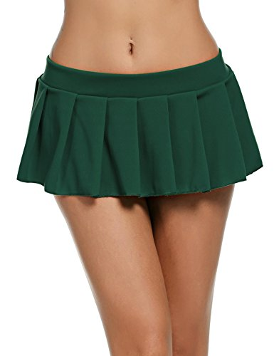 Goldenfox Women Sexy Role Play Pleated Mini Skirt