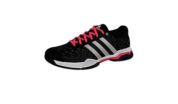 buy popular ad2b0 14a02 adidas Men s Barricade Club Tennis Shoes, Black Silver Met. Flash Red S, 7  M US  Amazon.ca  Shoes   Handbags