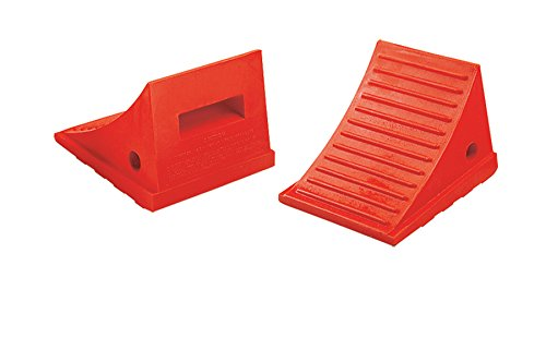 Loading Dock Chock - UC1600 Series; Length: 8.5''; Width: 7.5''; Height: 6.25''; Gross Vehicle Operating Weight (LBS): 30,000; Color: Orange; Pricing: Pair