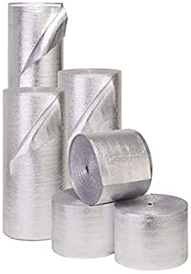 """2 PACK Wholesale Lot: ESP Low-E® SSR Reflective Foam Core Insulation Kit: 2 Rolls (Size 48""""x25') Includes 25' Foil Tape per roll, Knife & Squeegee. Multipurpose Home Insulation For Your Building Project or Just Every Day Household Needs."""