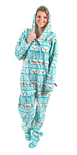 Forever Lazy Footed Adult Onesie -Moose - M
