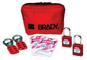 Brady USA 105969 Brady Red 1 1/2 W Personal Padlock Pouch Includes, Plastic, 1'' x 1'' x 1'' by Brady USA