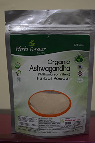 (Organic Ashwagandha Certified Organic Indian Ginseng Winter Cherry for Fatigue, Brain Fog, Weight gain, Often Constipation, Always Cold, Dryness in Skin, Hair and Nails)