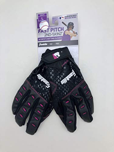 (Franklin Womens Fast Pitch 2nd Skinz Batting Gloves (Large, Both))