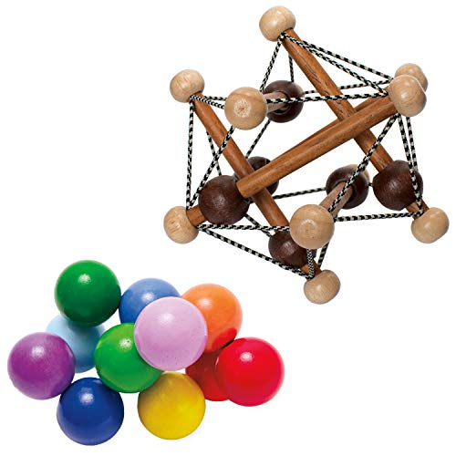 - Manhattan Toy Artful Skwish Rattle and Classic Baby Beads Motor Skill Development Set