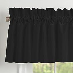 Carousel Designs Solid Black Window Valance Rod Pocket