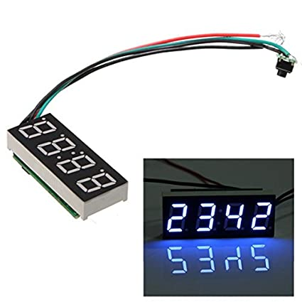 Alamor Dc 7-30V Reloj Digital Led Para El Coche Camión Motorcycle 24 Hour Time