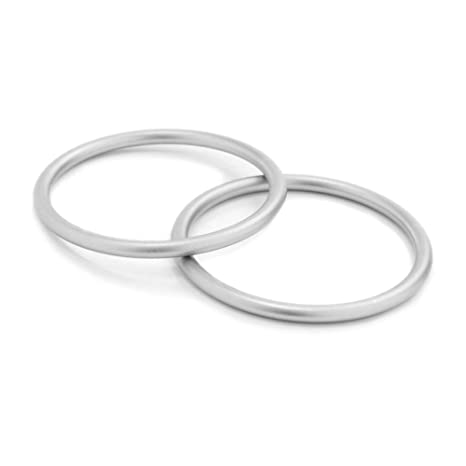 2PCS Baby Slings Rings Baby Cotton Wrap Ring Accessory Aluminum Rings for Infant Breathable Slings Carrier Strap