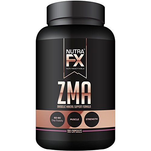 NUTRAFX ZMA Capsules Post Workout Supplement Benefits Muscle Growth, Strength, and Sleep 180 Capsules