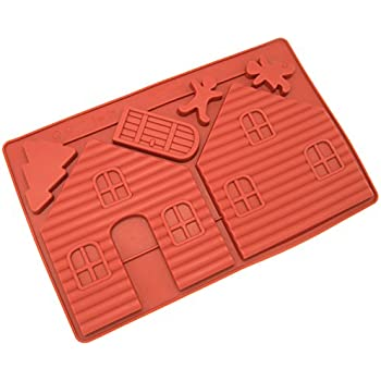 Freshware Silicone Mold, Chocoalte Mold, Candy Mold for Gingerbread House - 2 pcs