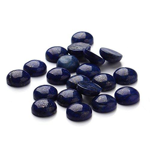 12mm Lapis lazuli Round Cabochon CAB Flatback Semi-precious Gemstone Ring Face Wholesale 20pcs