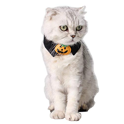 Toogoo Halloween Pet Supplies Dog Costume Halloween Holiday Necklace Halloween Cat Accessories Black Pumpkin Bow Tie -