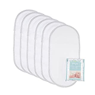 """TILLYOU 6PK Larger Softer Changing Pad Liners Waterproof, 27"""" x 13"""" Washable Reusable Changing Table Cover Liners Double Layers, 100% Cotton Flannel Surface, 6 Count"""